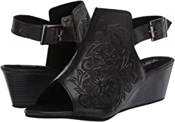 Black Floral Hand Tooled Leather