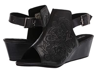 Roper Rowan (Black Floral Hand Tooled Leather) Women