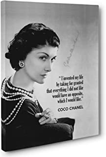 Coco Chanel Motivational Quote Canvas Wall Art