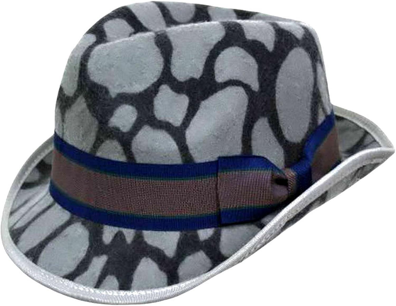 shopping Luxury Divas Animal Print Wool Hat Sale price Fedora