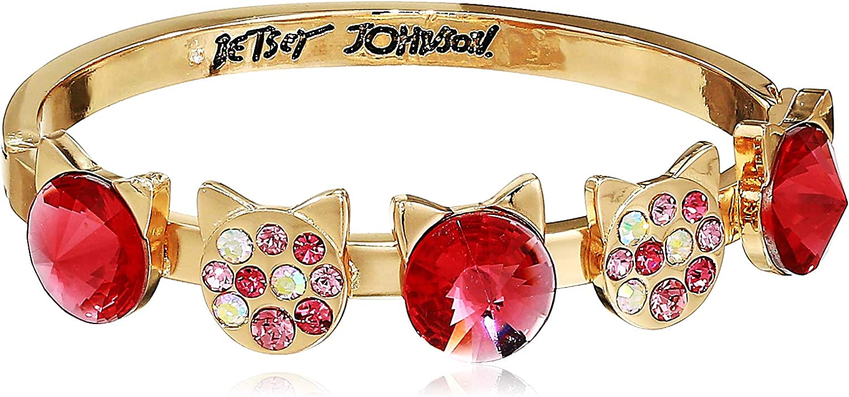 Betsey Johnson Stone Cat Bangle Bracelet