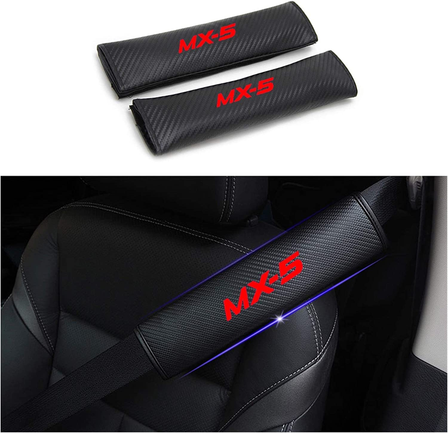 KGASYUI Car Trust Seat Belt Pads Translated Compatible Se MX-5 Mazda MX5 with