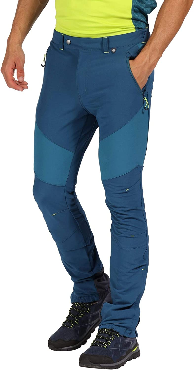 Regatta Mountain Active Stretch Water Repellent Durable Walking /& Hiking Trousers Pantalones Hombre