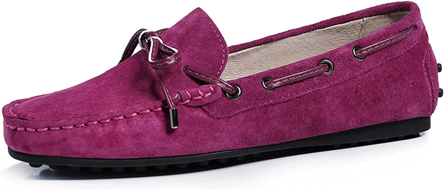 Miyoopark Women's Knot Classic Suede Penny Loafers Driving Flats