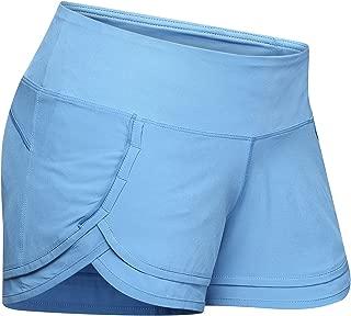 Women Light Weight Running Workout Volleyball Shorts Mesh Liner Zipper Pocket