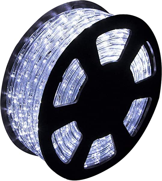 Ainfox LED Rope Light 150Ft 1620 LEDs Indoor Outdoor Waterproof LED Strip Lights Decorative Lighting Cool White