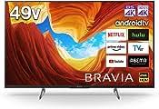 索尼 49V型 液晶 电视 黑色 KJ-49X8500H 内置4K调谐器 Android TV (2020年款)
