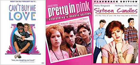 Sixteen Candles & Pretty in Pink + Can't Buy Me Love... Fun Comedy 80's High School Teen movie Set