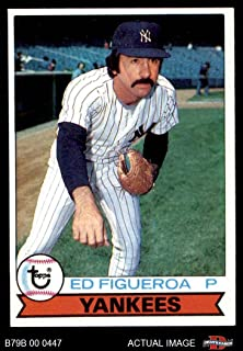 1979 Burger King # 11 Ed Figueroa New York Yankees (Baseball Card) Dean's Cards 6 - EX/MT Yankees