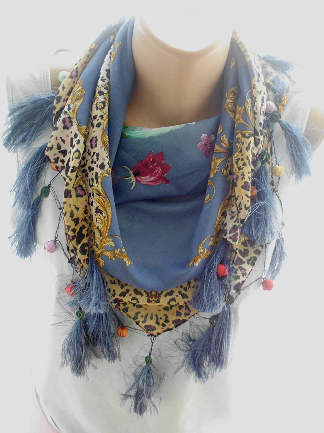 Fringed white Scarf Women Cotton Lace Floral Boho 40% OFF Clearance SALE! Limited time! Cheap Sale