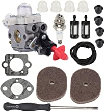 Hayskill Carburetor w Air Filter Fuel Repower Kit for Stihl FS40 FS50 FS56 FS70 FC56 FC70 HT56 HT56C KM56 KM56C Trimmer Replace Zama C1M-S267A 4144 120 0608 4144 120 0603 Carb