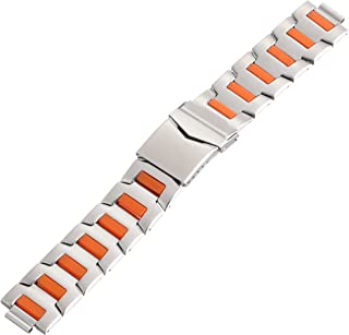 Hadley-Roma MB5886ROS&C 20 20mm Stainless Steel White Watch Strap