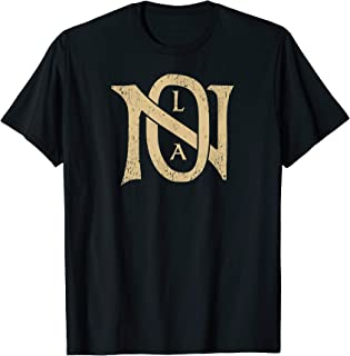 NOLA Monogram   New Orleans Football Vintage Saint Retro T-Shirt