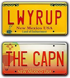 Celebrity Machines Breaking Bad   The CAPN + LWYRUP   Metal Stamped License Plates