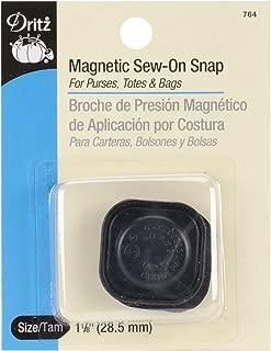 Dritz 764 Magnetic Snap, Black, 1-1/8-Inch