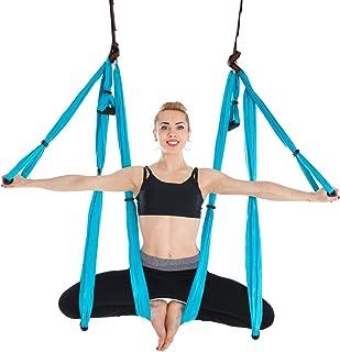 Himifuture Yoga Hamaca Columpio Trapecio Set Anti Gravedad Ultra Fuerte Cómodo Ejercicios Pilato Fitness Flexibilidad Núcleo Fuerza Pérdida de peso, Osos 400lbs