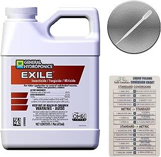 General Hydroponics 722072 Exile Fungicide/Miticide, 1 pint/16 oz, White