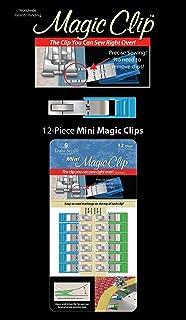 Taylor Sevilla tygklämmor Magic Clips 12-pack, mini kortvaror, metall/plast, blå/grön, 30 x 12,5 x 2,5 cm, 12 enheter