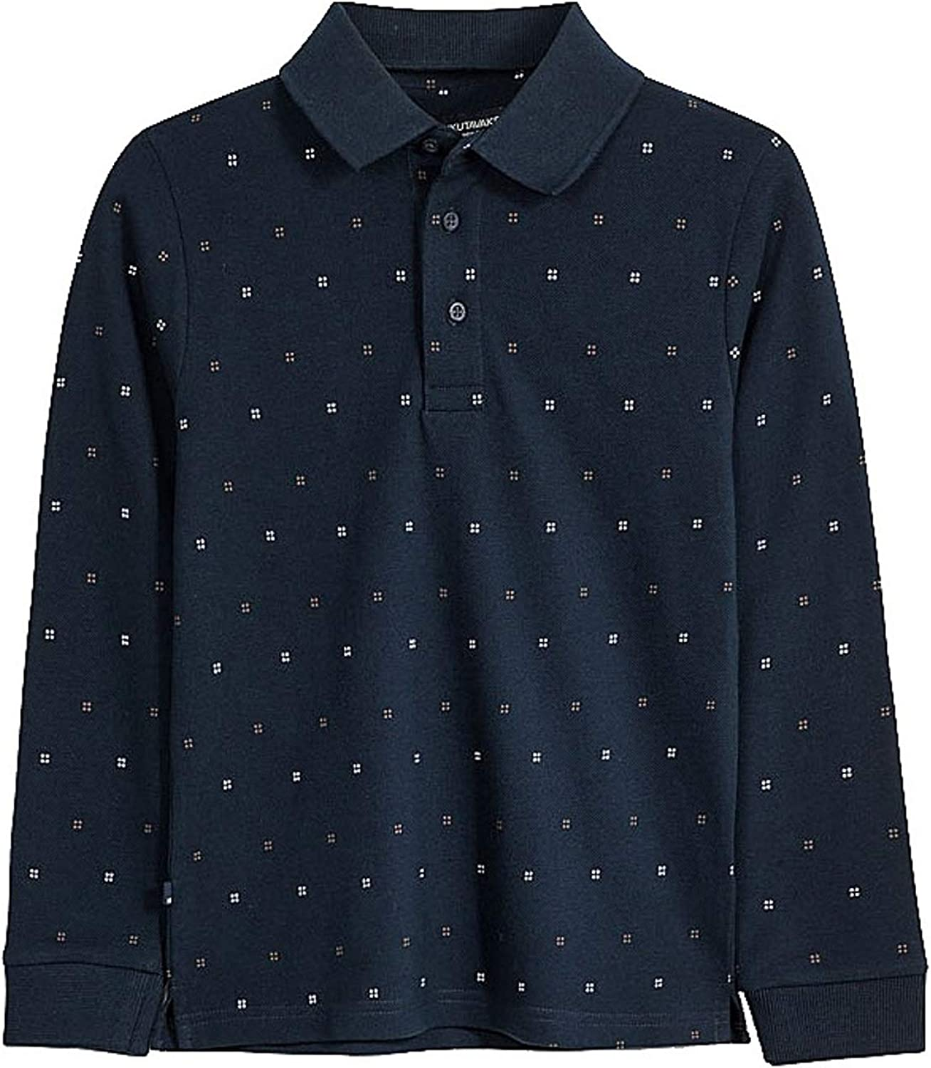 Mayoral - L/s Printed Polo for Boys - 7122, Deep Blue