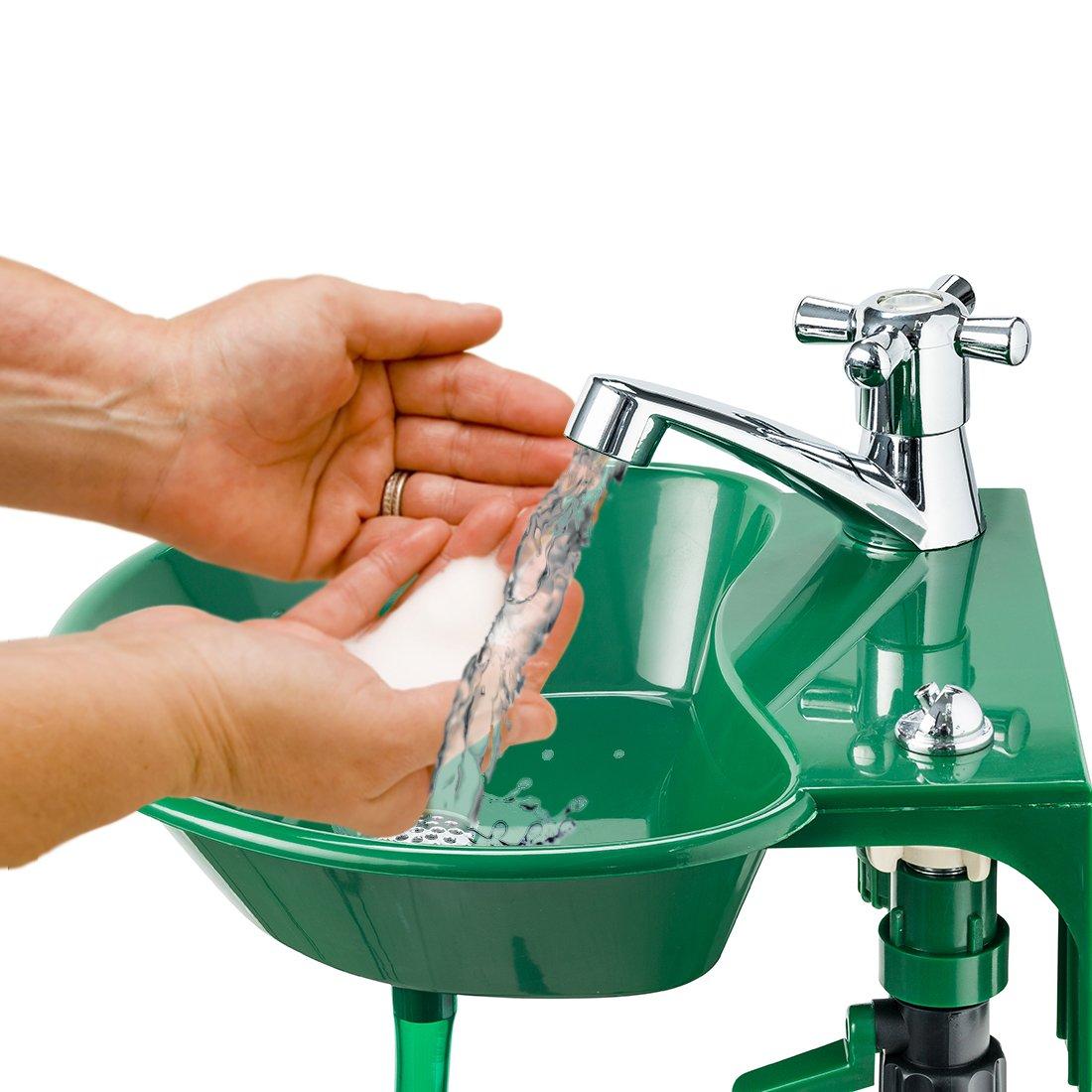 Al aire libre – y grifo para fregadero – integrado potable agua fuente – Transforma cualquier espiga de jardín