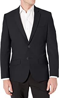 Men's Long-Sleeve Button-Front Slim-fit Stretch Blazer
