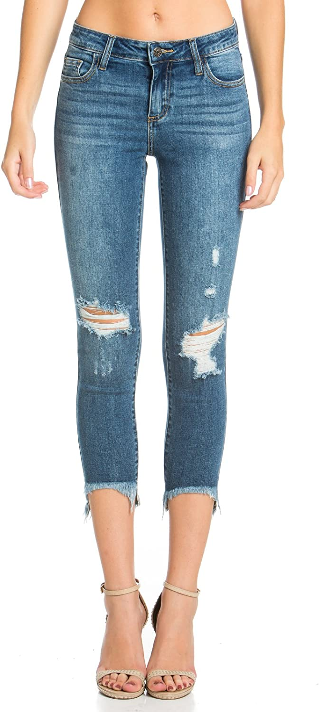 Cello Jeans Mid Rise Crop HiLo Skinny