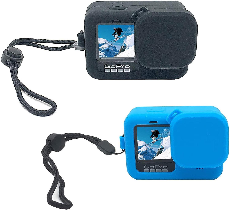 Schutzh/ülle f/ür GoPro Hero 9 Action-Kamera 2 St/ück Schwarz//Blau Silikon