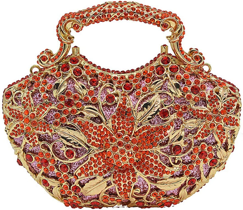 Ladies Handbag Ladies Handbag Luxury Fashion Diamond Evening Bag (color   E, Size   17  12  5cm)