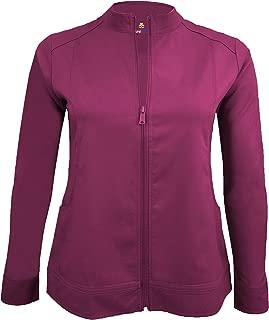 Women's Ultra Soft Front Zip Warm-Up Scrub Jacket