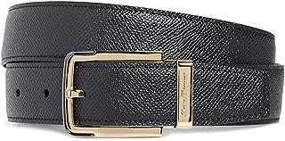 Men's Gold Buckle Reversible Belt