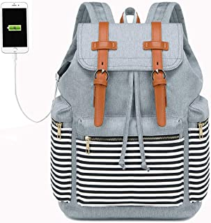 BTOOP Travel Backpack with USB Charging Port for 17.3 Inch Laptop Business Travel Duffel Backpack with Shoes Compartment L...