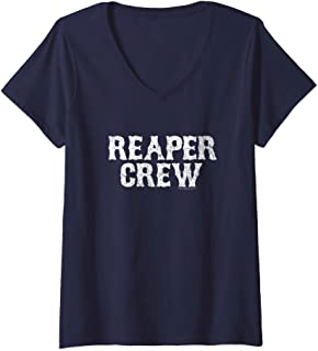 Womens Sons of Anarchy Reaper Crew V-Neck T-Shirt