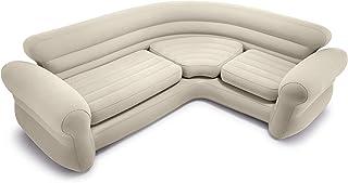 comprar comparacion Intex 68575N, Sofá rinconera hinchable, 257x203x76 cm, color crema, three_seats, pvc - 97%; rayon - 3%