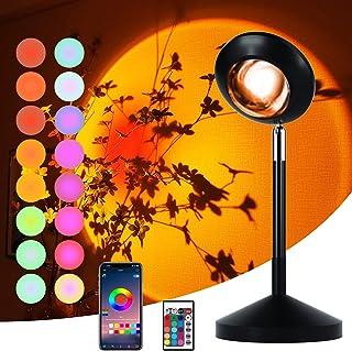 Sunlight Lamp LED Sunset Lamp Projection Rainbow Lamp Colour 16 or APP DIY Changing Lamp Night Light Romantic Mood Lightin...