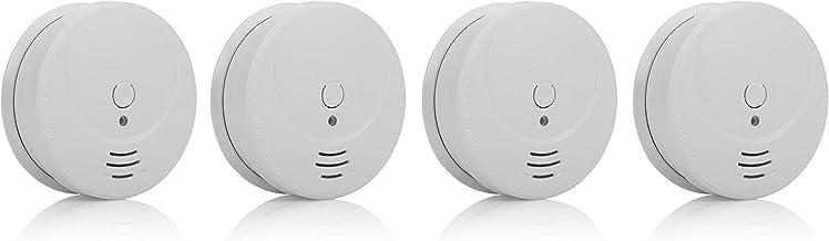 Smartwares Detector de Humo, 1 Año de Batería Incluida, Vida del Sensor de 10 Años, 4 Unidades, RM149