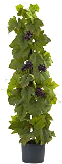 Nearly Natural Grape Leaf Deluxe Climbing Plant, 40'