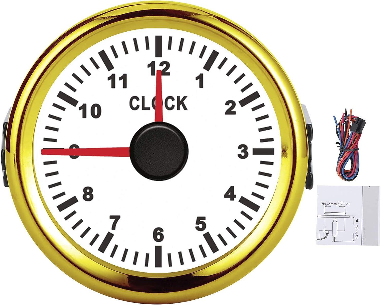 Car Max 48% OFF Clock Meter Oklahoma City Mall Gauge 52mm Hourmeter 2inch Universal I 012