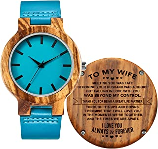 Engraved Wood Watches for Daughter - Engraved