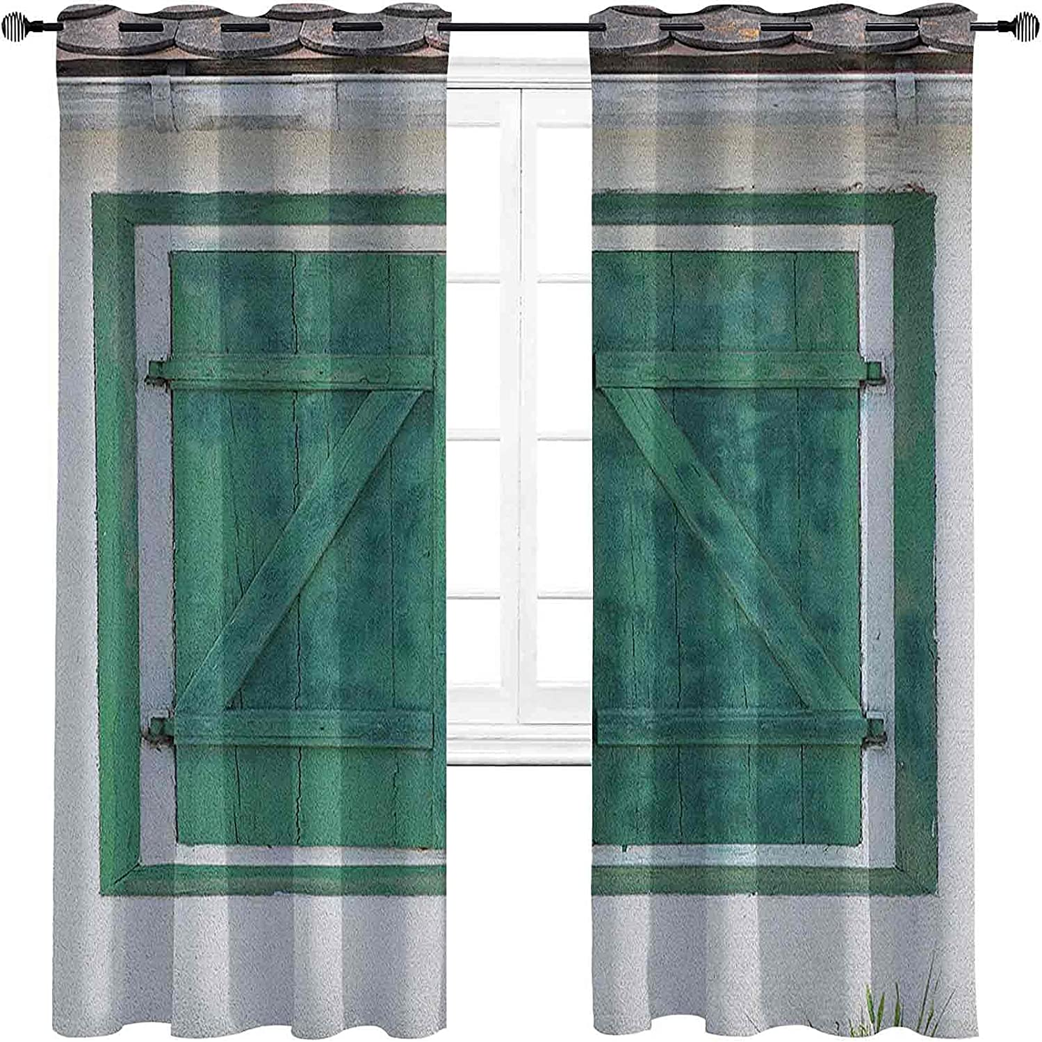 Max 71% OFF Country Sale special price Room Darkened Insulation Grommet Curtain W Retro Wooden