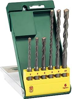 Bosch 6-Piece Drill Bit Set SDS-Plus 5, 6, 8 x 110 mm / 6, 8, 10 x 160 mm
