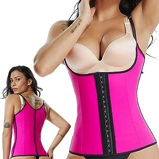 Underbust Waist Abdominal Trainer Corset - Latex Sport Workout Girdle Waist Trimmer Hourglass Body Shaper for Women