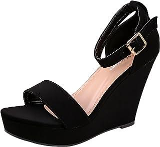 b0b4f5ea69ef31 Top Moda Womens Beryl-1 Platform Wedge Fashion Sandals with Ankle Strap