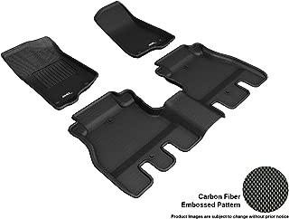 3D MAXpider L1JP01901509 Custom Fit All-Weather Floor Mats - Kagu Rubber Black Complete Set for Jeep Wrangler JL Unlimited Models