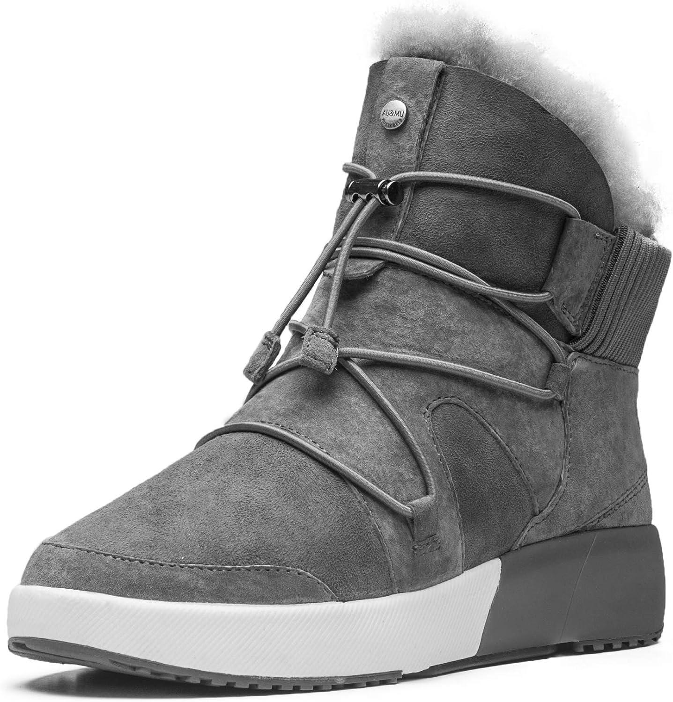AUMU Sheepskin Cross Elastic Bnad Metal Li Short 卓越 Wool Fur Ankle 高い素材