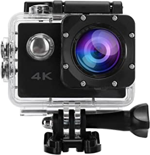 4K Actionkamera, Mini Vattentät Sportkamera Vidvinkel Videokamera Cykel Utomhuskamera Intelligent Anti-shake 30m / 98.4ft ...