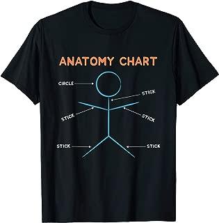 Stick Figure Anatomy Chart Funny design T-Shirt