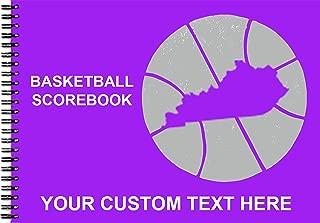 Hardwood Texas Basketball Scorebook | 40 Games | 14 Colors | Your State Logo - (Kentucky)
