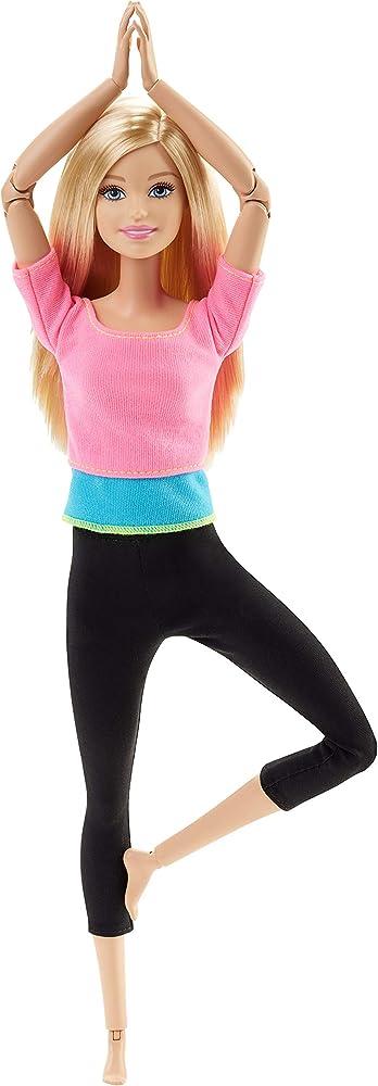 Barbie , bambola snodata, 22 punti snodabili per tanti movimenti DHL82