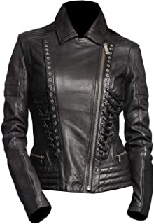 VearFit Steelmilion Biker Fashion Desinger Motorcycle Women Leather Jacket