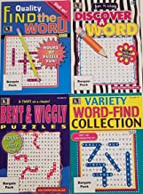 Kappa Puzzles Bargain Pack Set of 4 Books Variety Word-Find Collection Bent & Wiggly Puzzles Fun 'N East Discover a Word Quality Find a Word